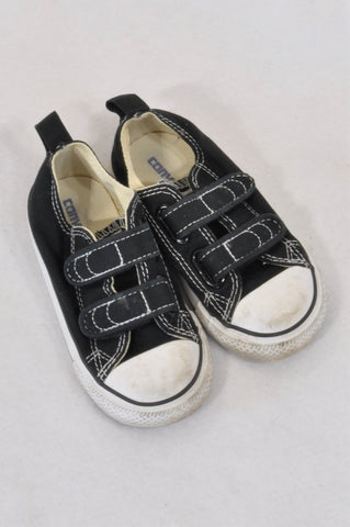 002df60bc Converse All Star Black Double Velcro Shoes Unisex 2-3 years