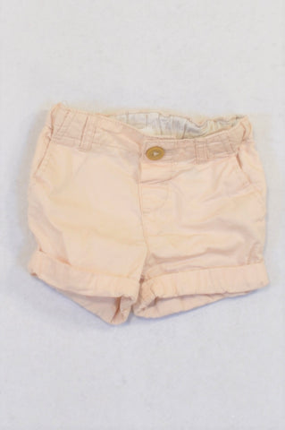 H&M Nude Roll Up Shorts Girls 3-6 months