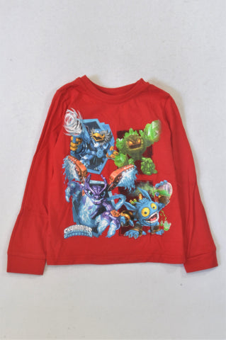 Red Skylanders T-shirt Boys 5-6 years