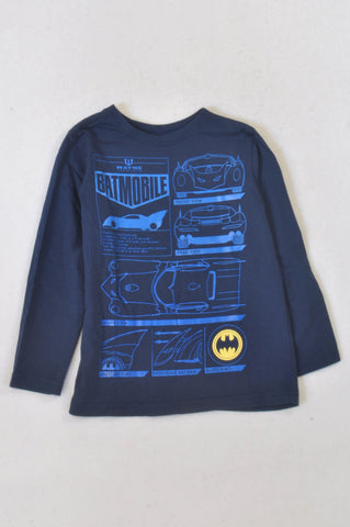 Woolworths Navy Batmobile Front & Rear T-shirt Boys 5-6 years