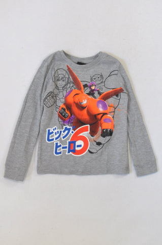 Disney Grey Big Hero 6 T-shirt Boys 5-6 years