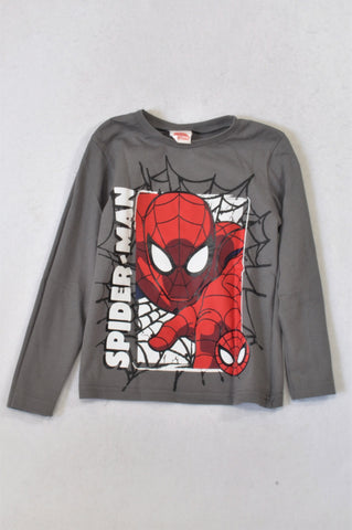 Edgars Grey Spiderman Face T-shirt Boys 5-6 years