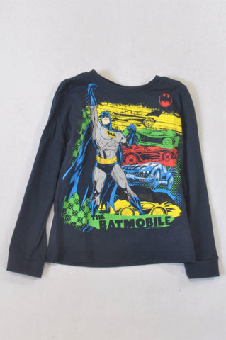 Batman Navy Batmobile T-shirt Boys 5-6 years
