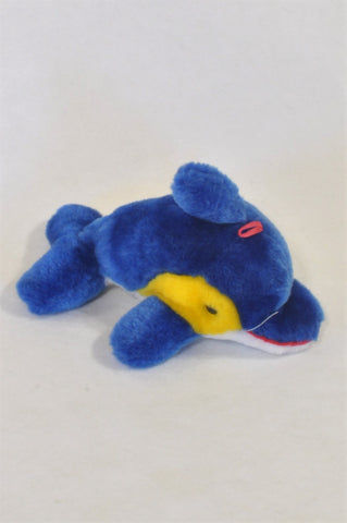 Blue Dolphin Plush Toy Unisex All Ages