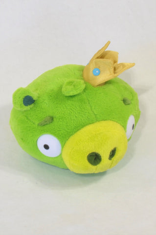 Green Angry Bird King Pig Toy Unisex All Ages
