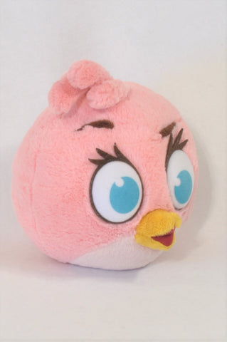 Pink angry Bird Stella Plush Toy Unisex All Ages