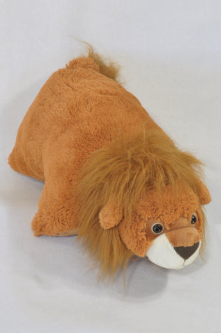 Brown Lion Plush Toy & Pillow Accessory Unisex All Ages