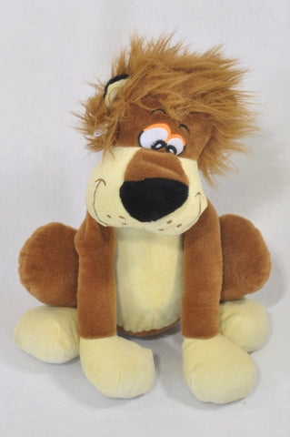 Brown Silly Lion Plush Toy Unisex All Ages