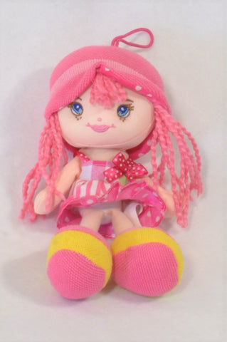 Pink Braided Hair Dolly Toy Girls All Ages
