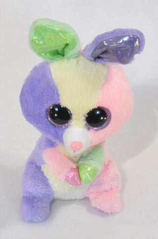 Ty Purple Pink & Green Plush Bunny Toy Girls All Ages