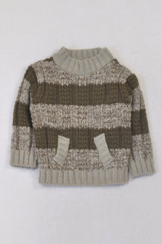 Ackermans Brown Heathered Knit Jersey Boys 18-24 months