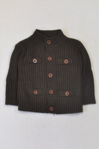 Ackermans Chocolate Brown Knit Jersey Boys 18-24 months