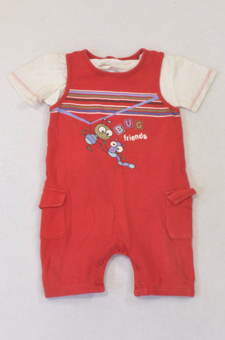 Woolworths Red Bug Friends Outfit Boys 12-18 months