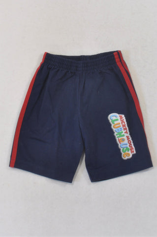 Edgars Blue Striped Mickey Mouse Shorts Boys 12-18 months