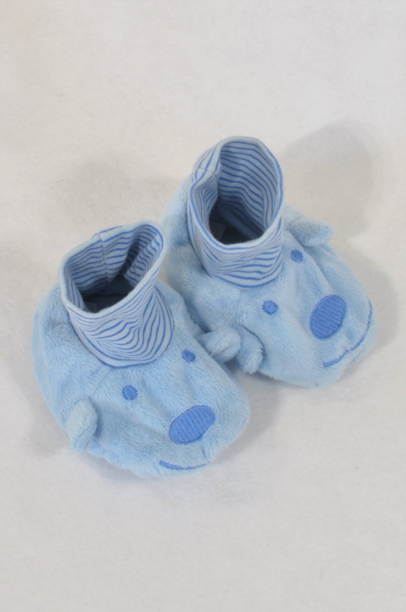 Woolworths Size 3 Blue Bear Slippers Boys 9-12 months