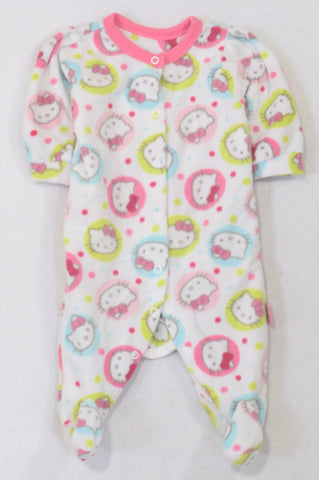 Woolworths Pink Hello Kitty Fleece Onesie Girls 0-3 months