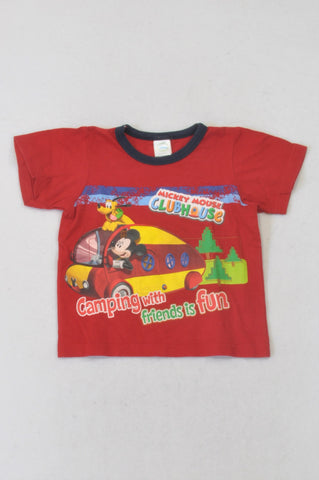 Disney Red Mickey Mouse Clubhouse T-shirt Boys 12-18 months
