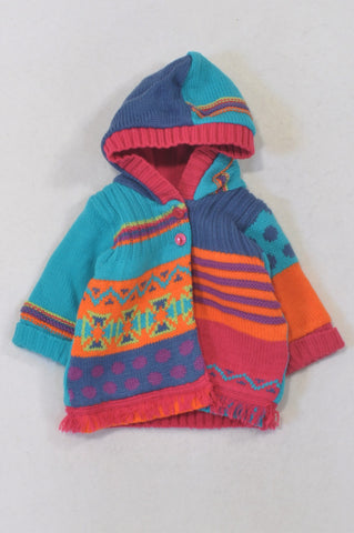 Woolworths Multi Color Knit Fleece Lined Jersey Girls 0-3 months