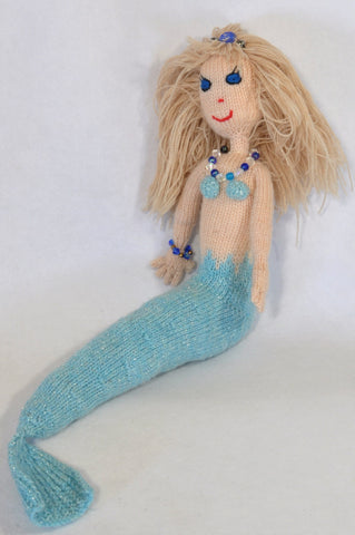 Handmade Jewelled Yarn Mermaid Doll Decor & Toy Girls 3-10 years