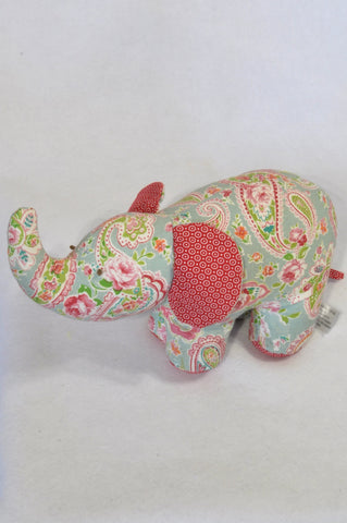 Mr. Price Mint Floral and ShweShwe Elephant Door Stopper Decor Girls All Ages