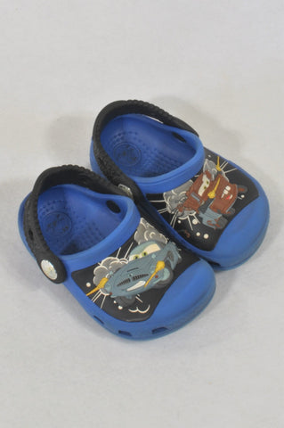 Crocs Size 4 Blue Cars Sandals Boys 1-2 years