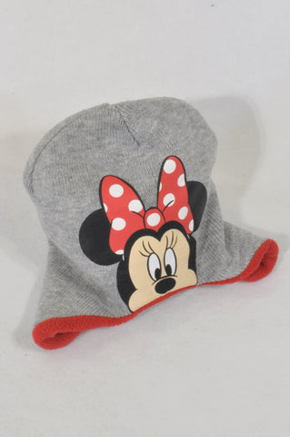 Disney Grey Knit Minnie Cameo Beanie Girls 3-10 years