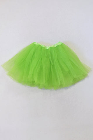 Neon Lime Tulle Skirt Girls 3-7 years