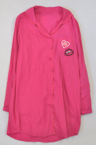 Woolworths Cerise Bae Mine Button Up Nighty Girls 12-13 years