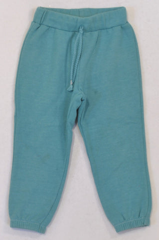Woolworths Basic Turquoise Cuffed Track Pants Girls 2-3 years