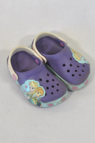 Crocs Size 8 Purple Frozen Clog Shoes Girls 2-3 years