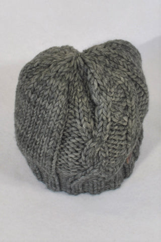 Sticky Fudge Charcoal Cable Knit Beanie Unisex 6-12 months