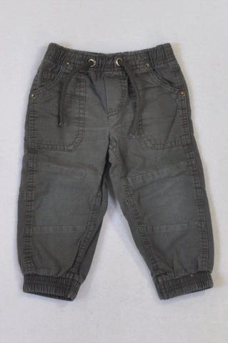 Cotton On Olive Cargo Cuffed Pants Boys 12-18 months