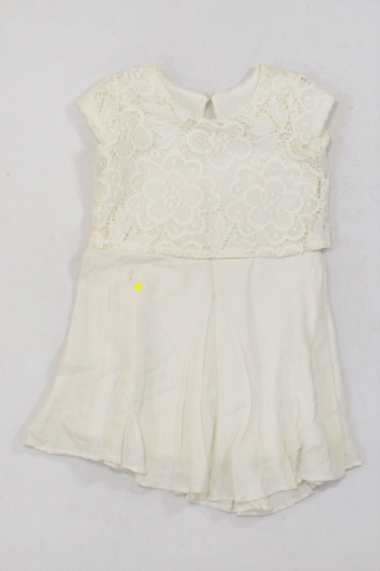 Woolworths Ivory Lace Inset Flowy Dress Girls 3-4 years
