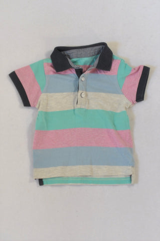 Woolworths Multicolor Broad Stripe Golf T-shirt Boys 18-24 months