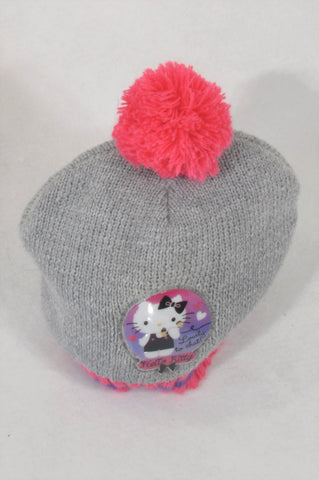 Grey & Pink Hello Kitty Beanie Girls 12-18 months