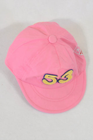 Pink 53 Peak Hat Girls 2-3 years