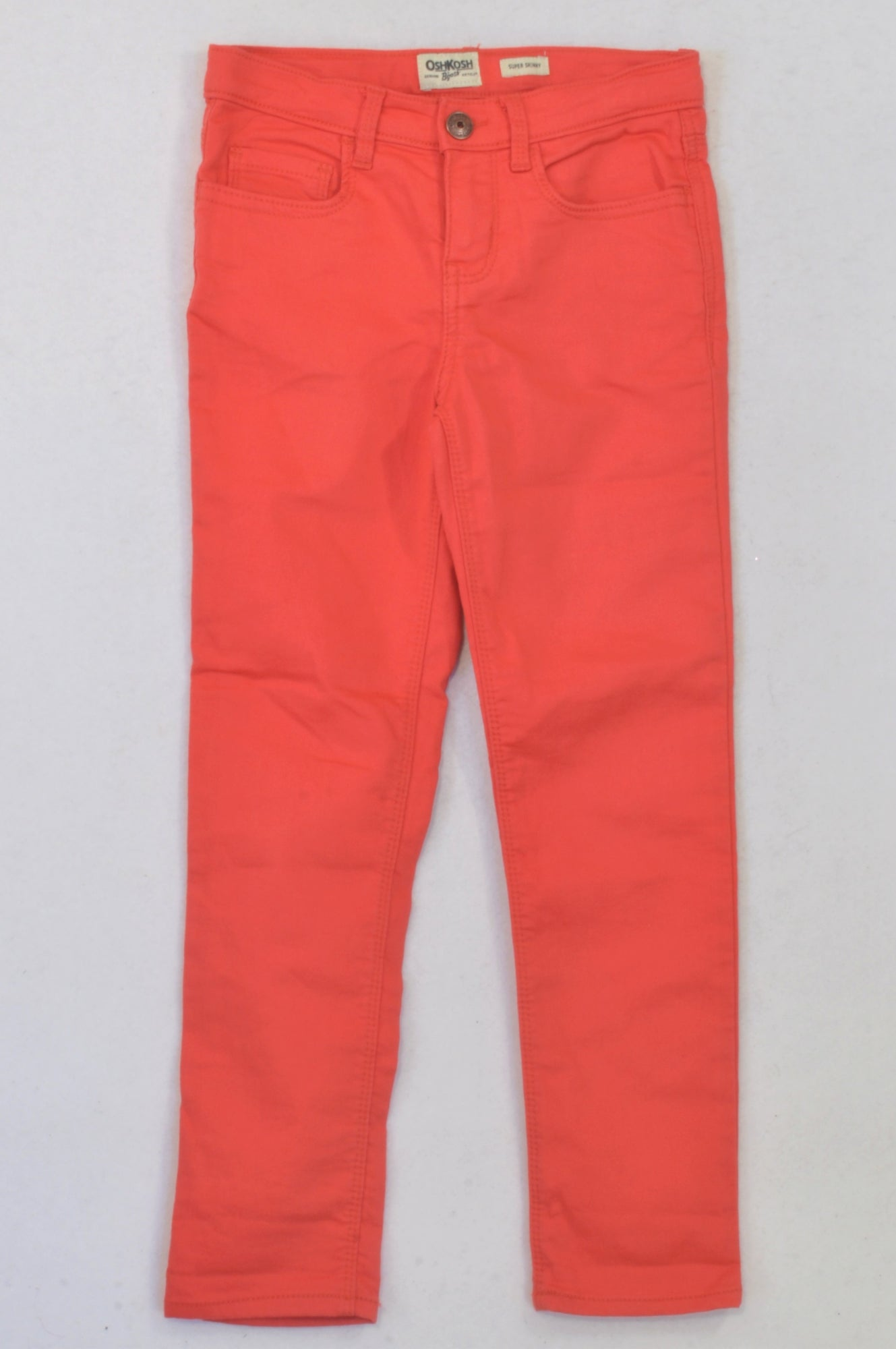 OshKosh Coral Skinny Leg Jeggings Girls 6-7 years