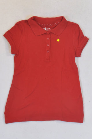 Old Navy Basic Red Golf T-shirt Boys 6-7 years