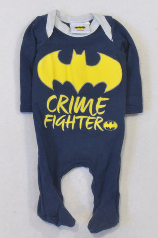 Batman Navy Crime Fighter Onesie Boys N-B