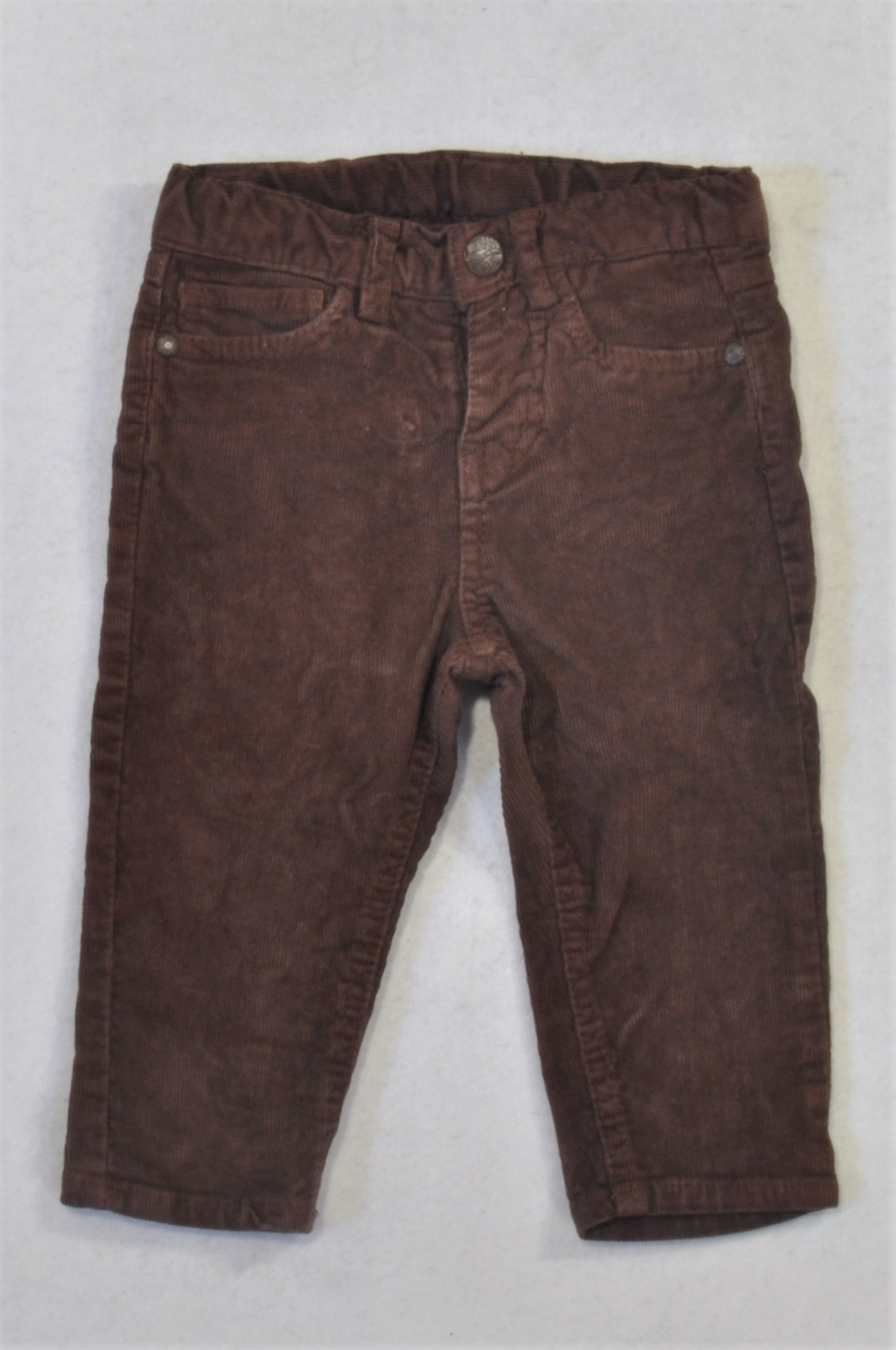 Marks & Spencers Basic Brown Corduroy Pants Boys 9-12 months