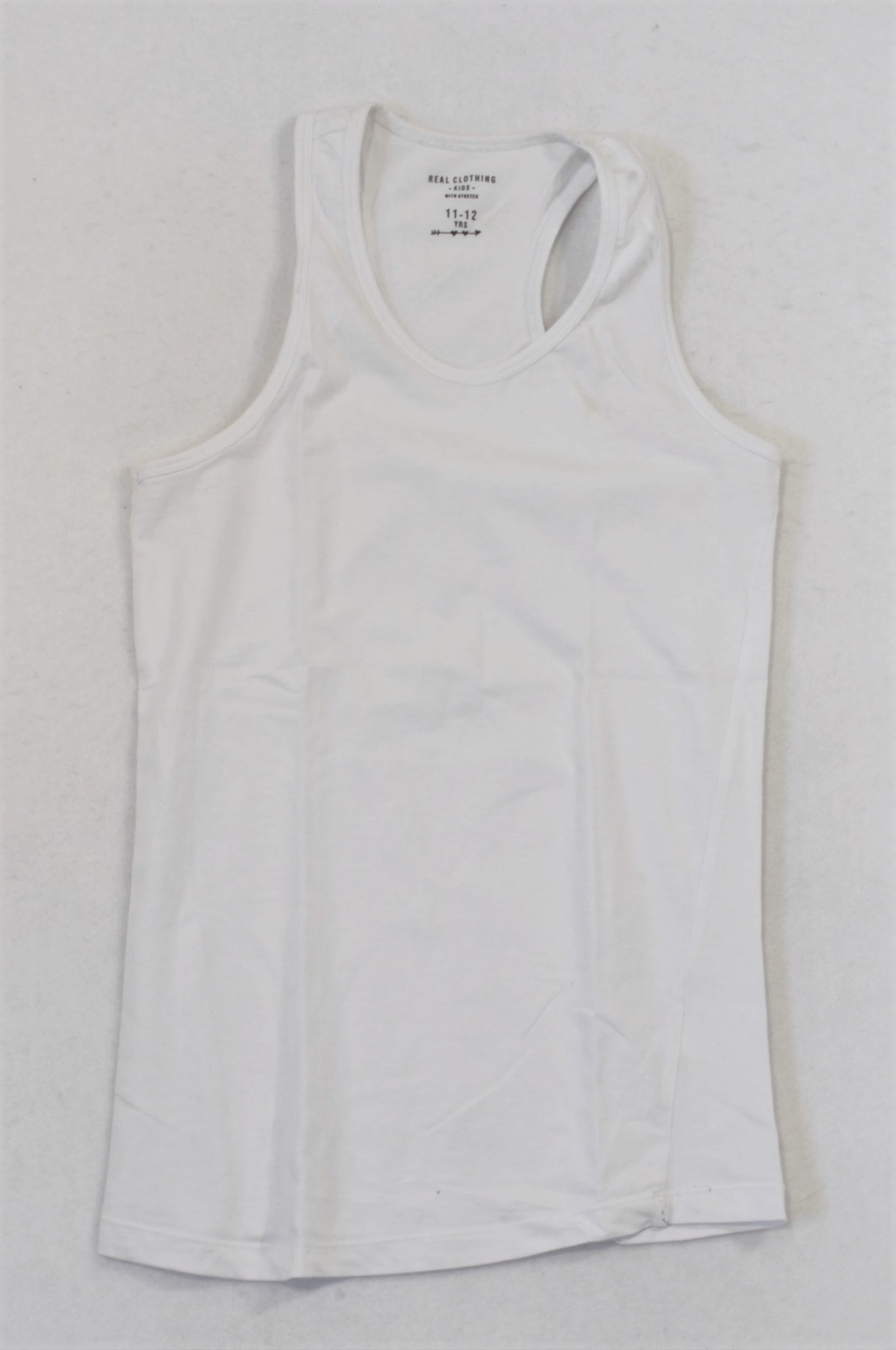 Pick 'n Pay Basic White Sporty Tank Top Girls 11-12 years