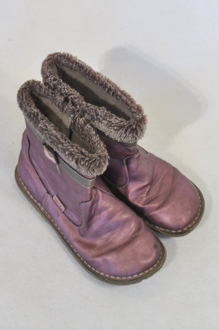2033e7fd6eaf Woolworths Size 12 Shimmering Purple Boots Girls 6-7 years