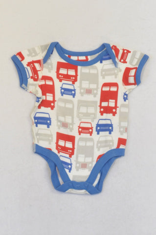 Marks & Spencers Red & Blue Transport Baby Grow Boys 9-12 months