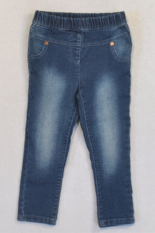 Next Stone Washed Skinny Leg Jeans Girls 18-24 months