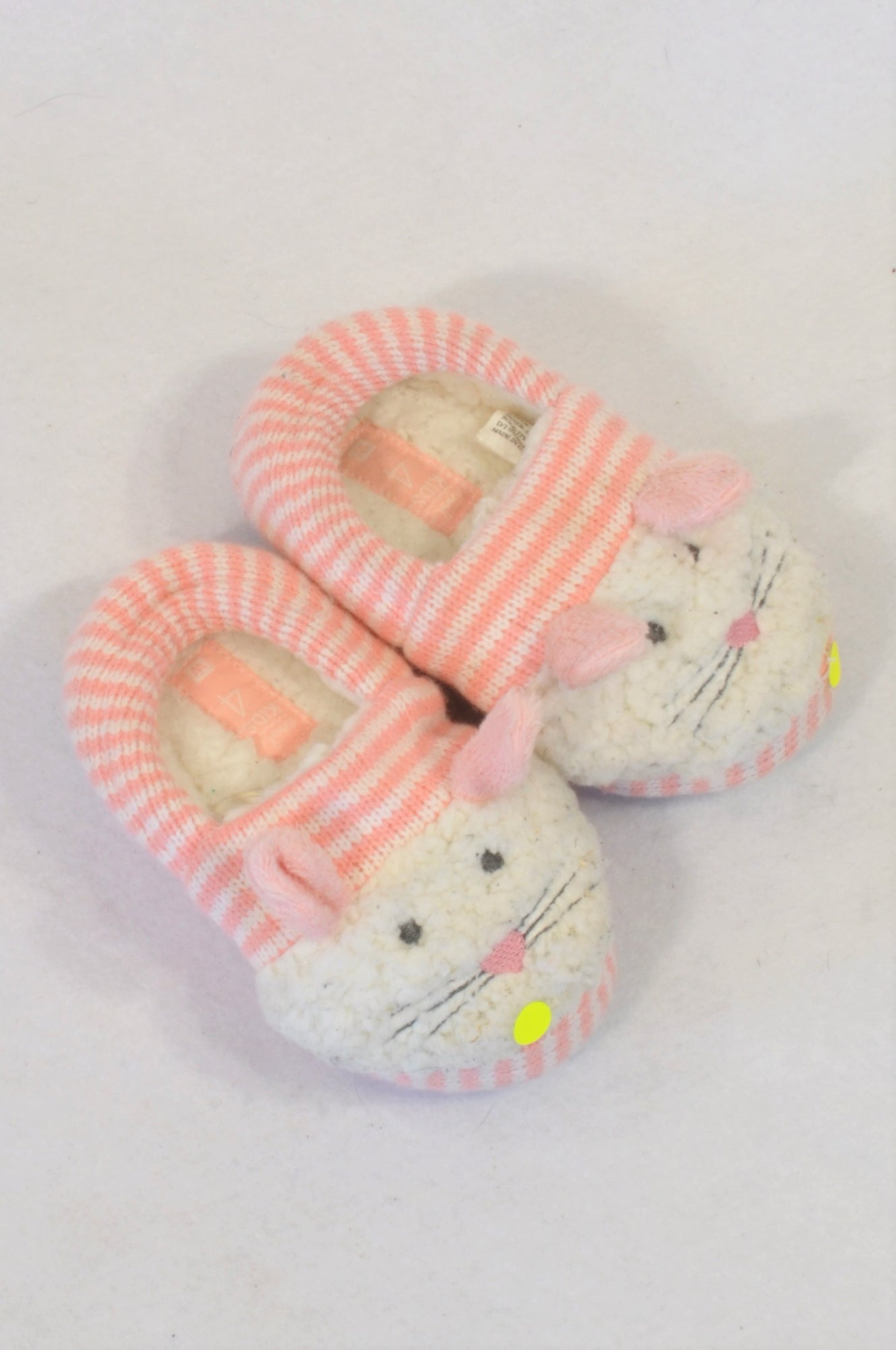 530ff072d7 Woolworths Size 4 Pink Bunny Rabbit Slippers Girls 12-18 months – Once More