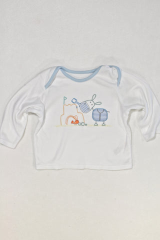 M&S Horse T-shirt Boys 6-9 months