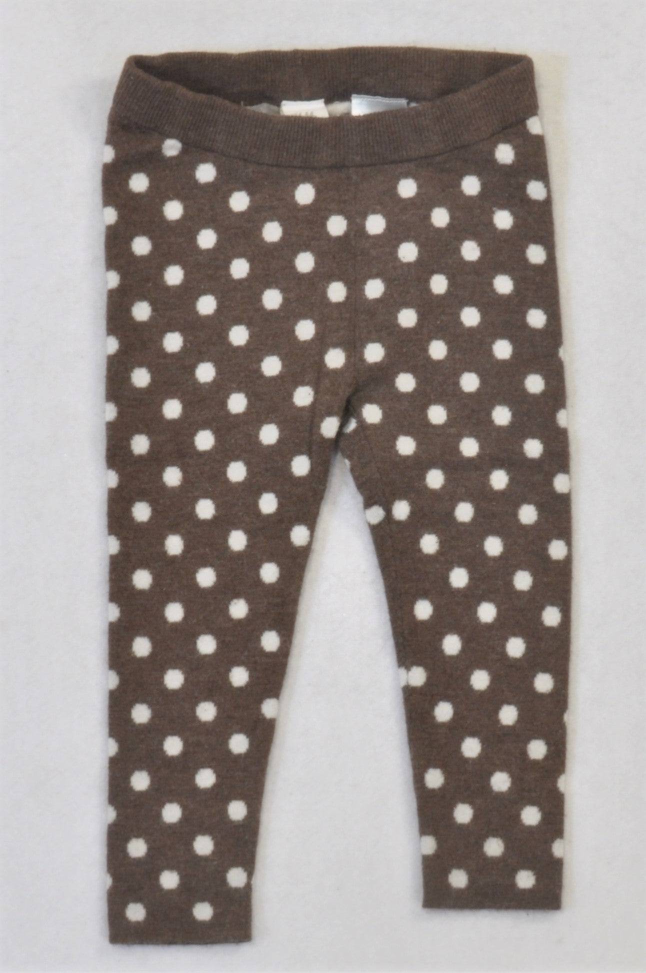 H&M Brown Dotty Knit Stockings Girls 12-18 months