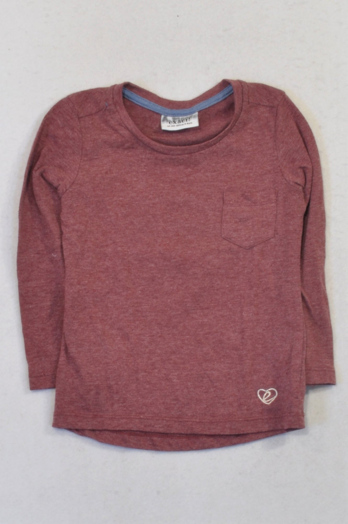 Exact Burgundy Heathered T-shirt Girls 3-4 years