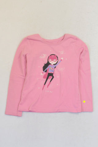 Young Dimension Pink Space Superhero T-shirt Girls 5-6 years