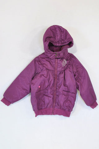 Woolworths Violet Silver Embroidered Jacket Girls 4-5 years